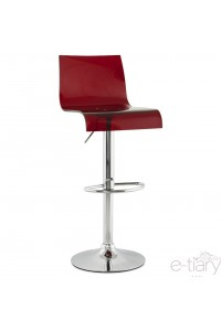 "Tabouret de bar ""PLEXI"" Rouge"