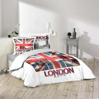 """""""London rock"""" Housse de couette  220 x 240 cm + 2  taies"""