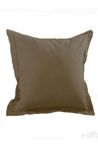 "Taie d'oreiller "" Taupe ""75 x 75 cm 100% coton"