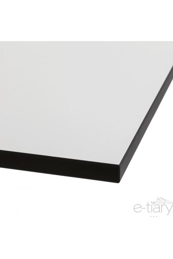 plateau de table blanc 60x60cm en r sine usage ext rieur. Black Bedroom Furniture Sets. Home Design Ideas
