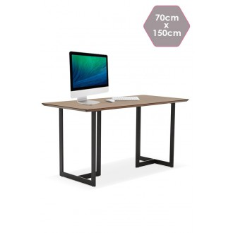 Table de bureau BIRAO Design Bois Noix