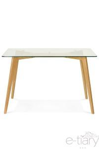 Table de salle à manger rectangulaire KALHA transparent