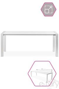 Table de salle à manger extensible ITATRA Blanc