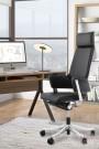 Chaise de bureau MATEZA Noir - Idéal pour la maison ou le bureau