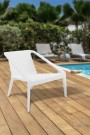 Fauteuil de jardin blanc MANDAM - Terasse, piscine ...