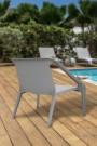 Chaise de jardin MANDAM - Gris
