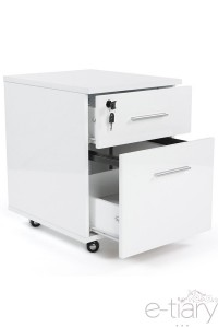 Caisson de bureau à tiroirs CLEMSON - Blanc