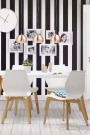Chaise design de salle à manger TSARA - Blanc
