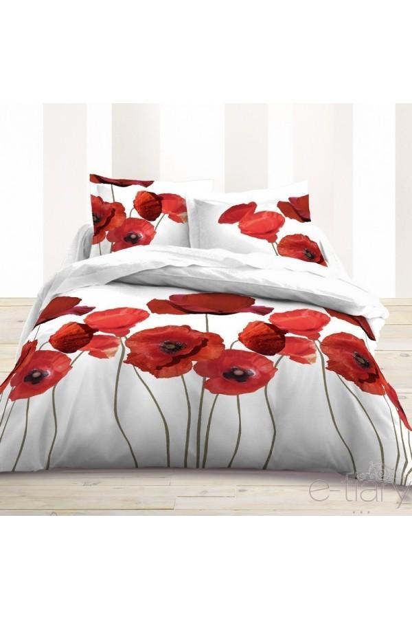 fleur de pavot housse de couette 220 x 240 cm 2 taies www e. Black Bedroom Furniture Sets. Home Design Ideas
