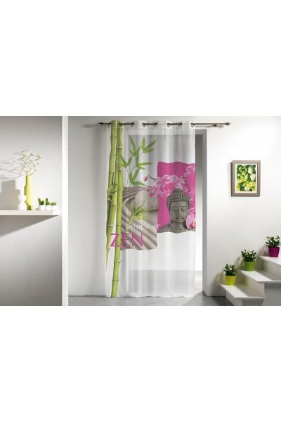 Rideau voilage Douceur zen panneau de 140 x 240 cm - www.e-tiary.com