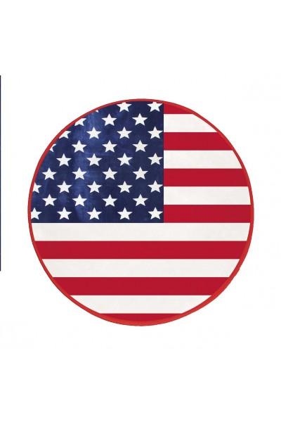 tapis rond diam tre 90 cm american flag drapeau am ricain www e. Black Bedroom Furniture Sets. Home Design Ideas