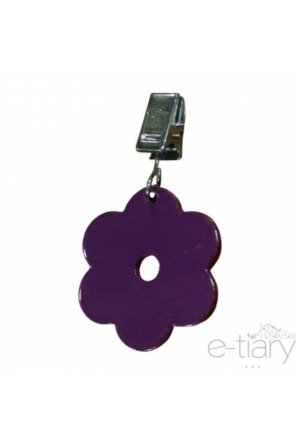 Pince pour nappe lot de 4 poids fleur couleur prune - Poids pour nappe ...