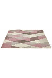 "Tapis design  ""SCANDINAVE"" Rose et Pastel"
