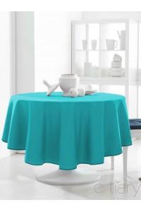 """ Turquoise "" Nappe Ronde unie DESIGN  ACTUEL"