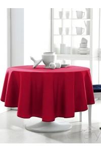 """ Rouge "" Nappe Ronde unie DESIGN  ACTUEL"