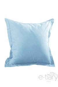 """"""" Bleu""""  taie d'oreiller 75 x75 cm 100% coton"""