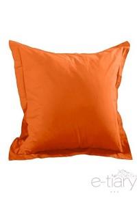 """Mandarine""  taie d'oreiller 75 x75 cm 100% coton"