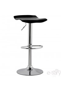 "Tabouret de bar design plexi  ""SURF"" Noir"