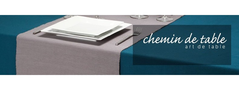 chemin de table-serviette
