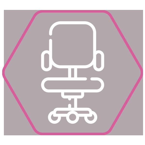 Chaise de bureau ergonomique MATEZA Noir - Confortable